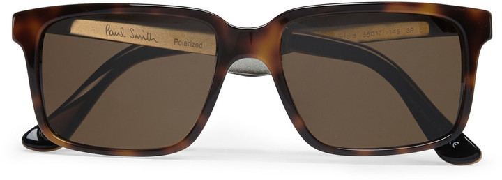 Paul Smith Shoes & Accessories Shawford Acetate and Metal Square-Frame Polarised Sunglasses