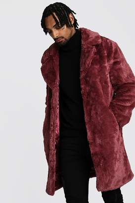 boohoo Faux Fur Overcoat