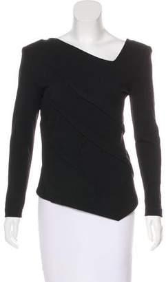 Donna Karan Wool Asymmetrical Top