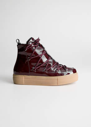 And other stories Patent Leather Snow Boots