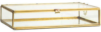 H&M Large Clear Glass Box - Gold