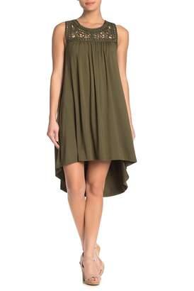 Spense Spiral Crochet Sleeveless Shift Dress