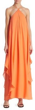 Trina Turk Ginger Silk Georgette Maxi Dress $498 thestylecure.com