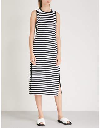 Rag & Bone Striped crepe midi dress
