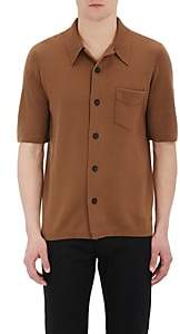 Barneys New York Burberry X Men's Stockinette-Stitched Short-Sleeve Shirt - Beige