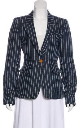 Smythe Linen Striped Blazer