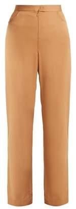 Rachel Comey Menace High Rise Straight Leg Trousers - Womens - Camel
