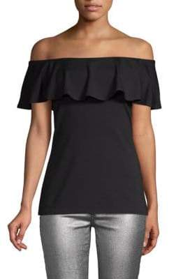 Susana Monaco Ruffle Off-the-Shoulder Top