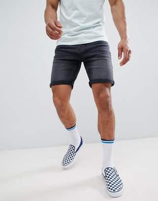Pull&Bear Slim Fit Shorts In Grey
