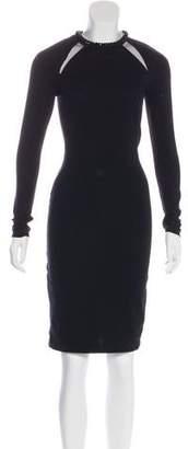 Stella McCartney Long Sleeve Embellished Dress