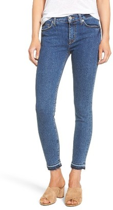 Women's Hudson Jeans Nico Released Hem Ankle Skinny Jeans $205 thestylecure.com