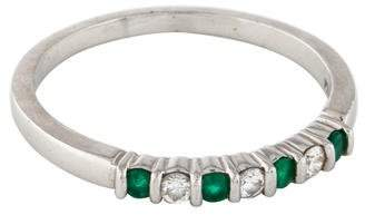 Tiffany & Co. Platinum Emerald & Diamond Band