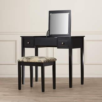 Andover Mills Kinkaider Vanity Set with Mirror