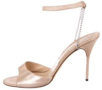 Michael Kors Metallic Suede Sandals