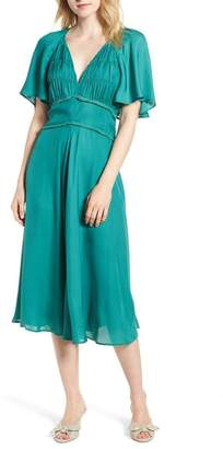 Chelsea28 Ruched Bodice Midi Dress