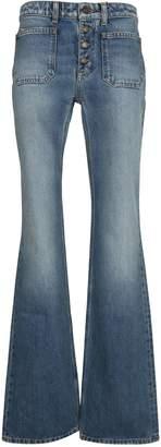 Saint Laurent Paris Button-up Flared Jeans