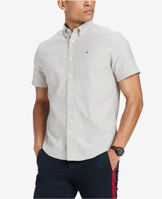 Tommy Hilfiger Men's Short Sleeve Oxford Classic Fit Shirt, Created for Macy's