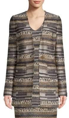St. John Gilded Eyelash Tweed Jacket