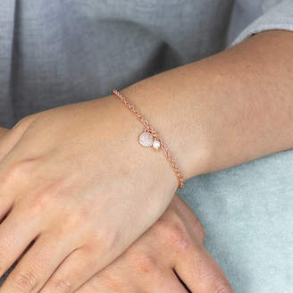 Joy by Corrine Smith Personalised Pave Pearl Charm Bracelet