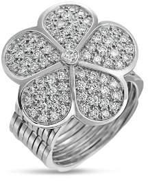 G-Shock Gumuchian 18K White Gold G Boutique Daisy Pavé Diamond Convertible Ring & Bracelet