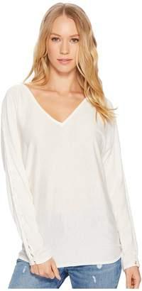 Splendid Nassau Cashmere Blend Braided Sleeve Sweater Women's Sweater
