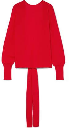 Esteban Cortazar Open-back Wool-blend Sweater - Red