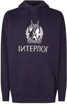 Vetements Interpol Logo Hoodie