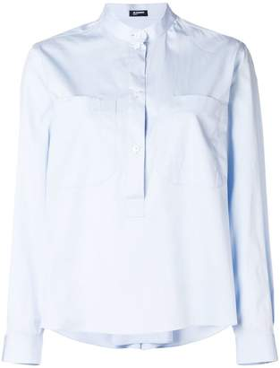 Jil Sander Navy oversized pocket shirt