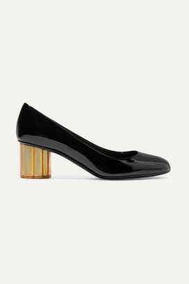 Salvatore Ferragamo Lucca Patent-leather Pumps - Black