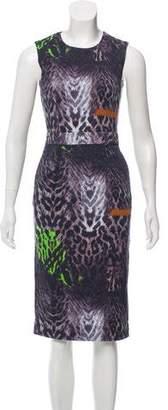 Preen Line ZAC Zac Posen Animal Print Sheath Dress