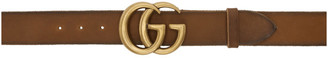 Gucci Brown GG Toscano Belt