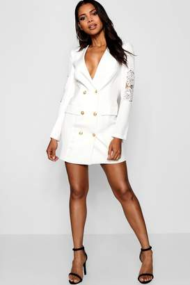 boohoo Blazer Dress with Lace Detail