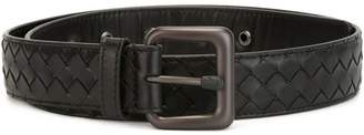 Bottega Veneta nero Intrecciato belt