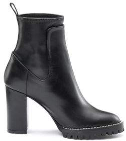 HUGO Boss Heeled calf-leather boots lug sole 6 Black