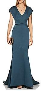 Zac Posen Women's Polished Crepe Gown - Blue