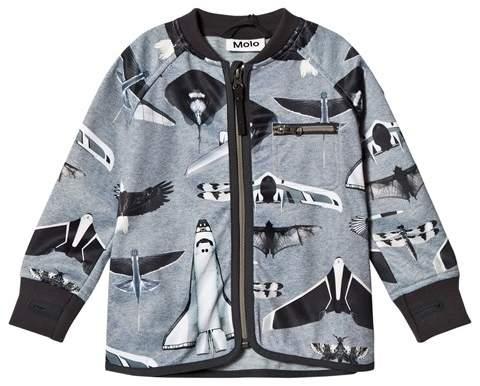 Planes and Birds Print Ulas Soft Shell Jacket