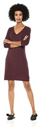 Daily Ritual Women's Jersey 3/4-Sleeve V-Neck T-Shirt Dress