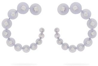 Fernando Jorge Surrounding 18kt Gold And Diamond Earrings - Womens - Light Blue