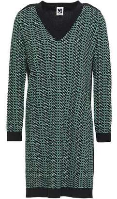 M Missoni Paneled Cotton-Blend Jacquard Mini Dress