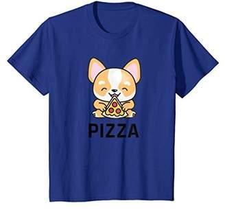 Corgi Cute Eating Pizza T-Shirt