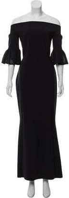 Chiara Boni Off-The-Shoulder Evening Dress