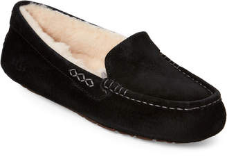 UGG Black Ansley Moccasin Slippers