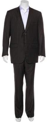 Isaia 130's Striped Wool Suit