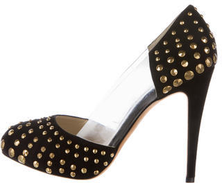 Brian Atwood Suede Studded Pumps $145 thestylecure.com
