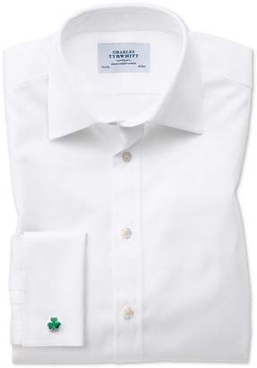 Charles Tyrwhitt Classic Fit Oxford White Cotton Dress Shirt French Cuff Size 16/38