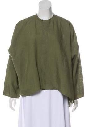 eskandar Linen Button-Up Top