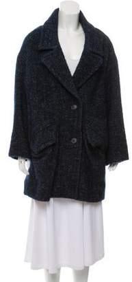Etoile Isabel Marant Wool Notched-Lapel Coat