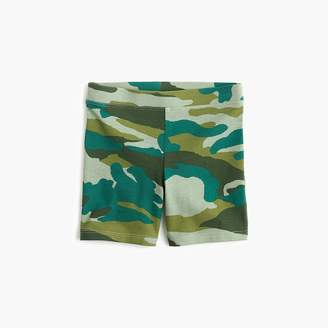 J.Crew Girls' bike short in camo