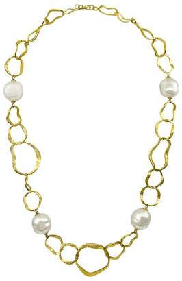 Majorica Hammered Necklace, 37""
