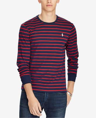 Polo Ralph Lauren Men's Custom Slim Fit Striped Long-Sleeve T-Shirt